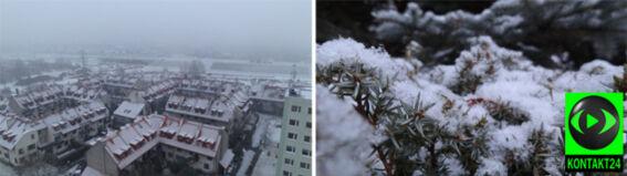 Dzień przed zimą zrobiło się biało