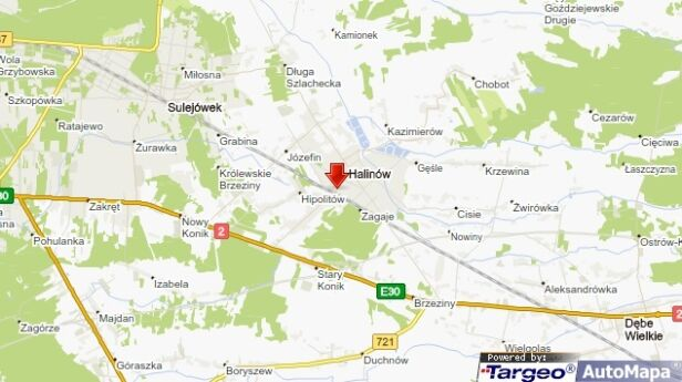 Do potrącenia doszło w Halinowie targeo