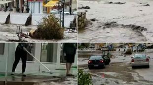 Ulewy nad Grecją. 80-latek utknął w samochodzie